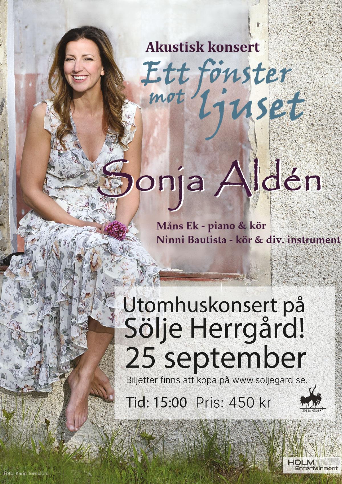 Sonja Aldén 25 september